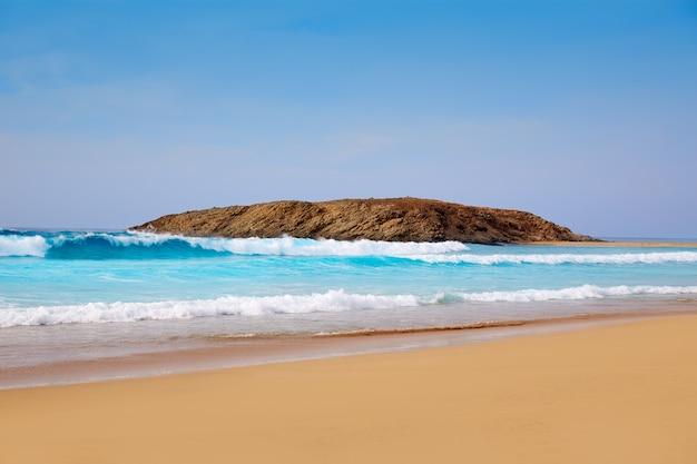 Plage de cofete fuerteventura aux îles canaries