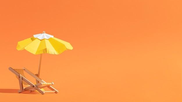 Plage d'été en différents matériaux