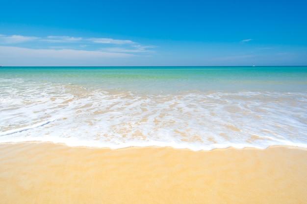 Plage d'été mer