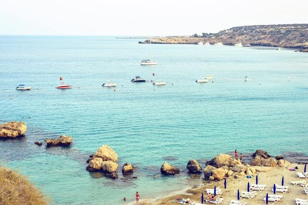 Plage de konnos à chypre