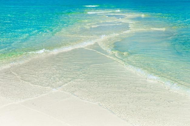 Plage et mer tropicale. fond de la nature