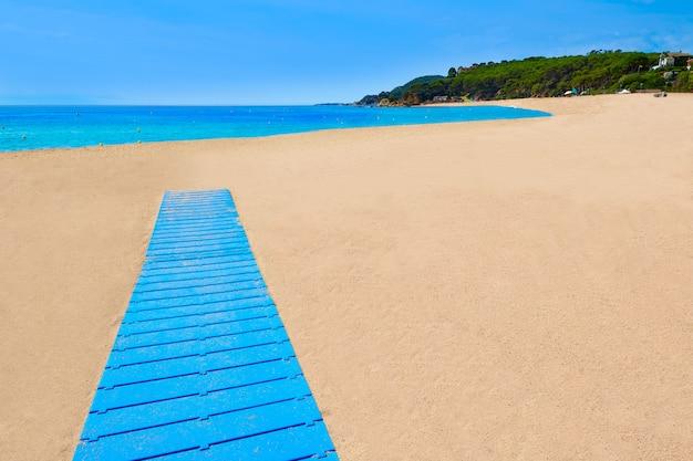 Plage de platja fenals à lloret de mar sur la costa brava