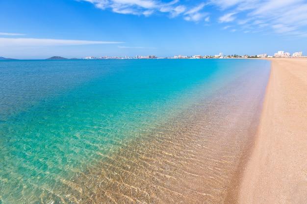 Plage de playa paraiso à manga mar menor murcia