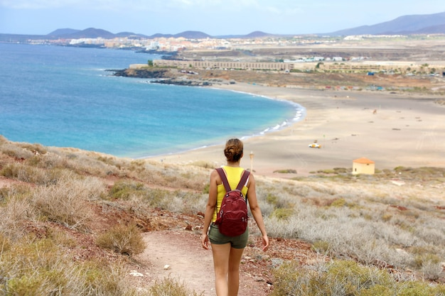 Plage de playa la tejita, tenerife, îles canaries