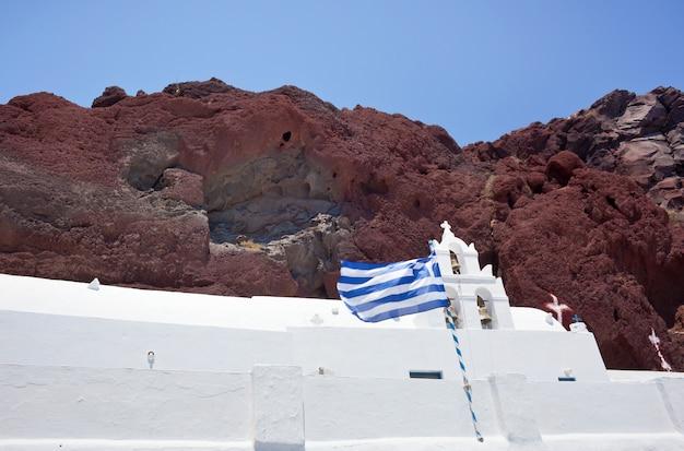 Plage rouge - île de santorin - grèce