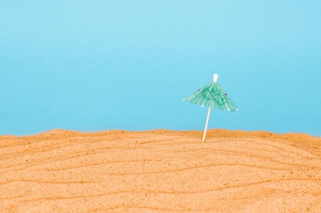 Plage de sable au bord de la mer