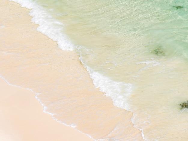 Plage de sable blanc mer andaman