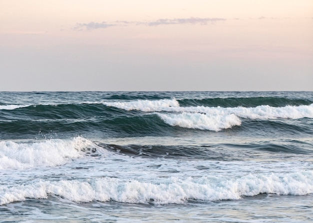 Plage de sable à côté de l'océan paisible