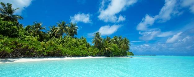Plage tropicale aux maldives