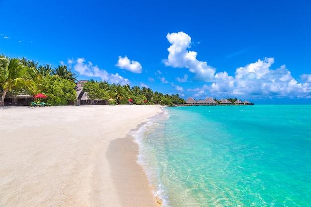 Plage tropicale de l'île des maldives