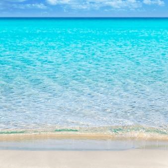 Plage tropicale avec sable blanc et eau turquoise