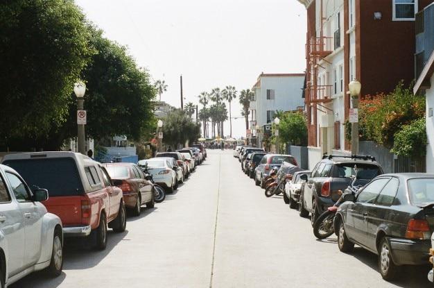 Plage de la ville de la rue traditionnelle
