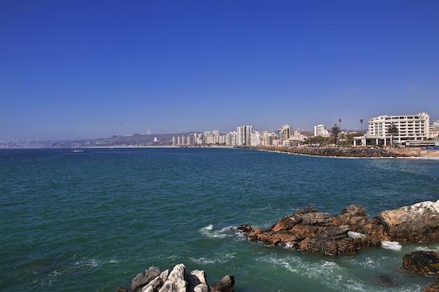 La plage de vina del mar, chili
