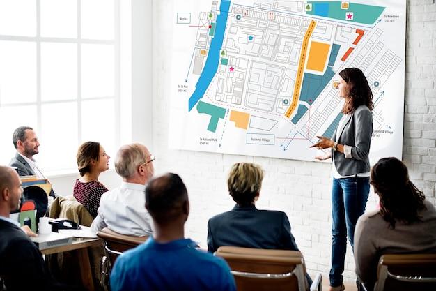 Plan d'aménagement urbain de la ville concept d'infrastructure
