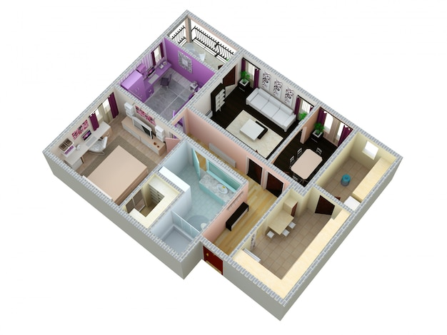 Plan de l'appartement ou de la maison.