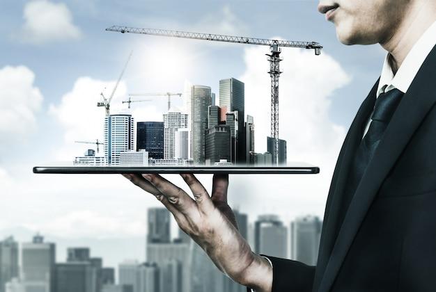 Plan d'architecture innovante et de génie civil