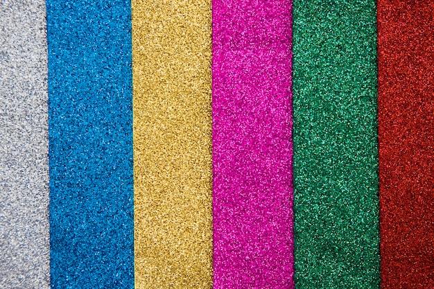 Plan complet de divers tapis multicolores