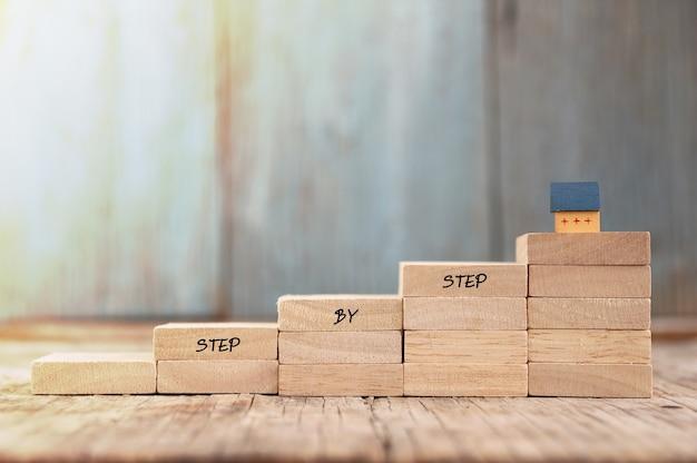 Plan d'idée de concept pour avoir une maison étape par étape