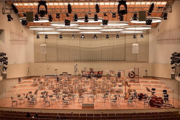 Plan intérieur d'un opéra