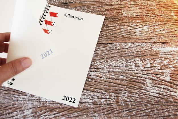 Plan de liste des objectifs de résolution du nouvel an 2020