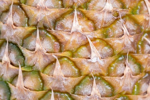 Plan macro d'ananas avec présence visible de moisissure