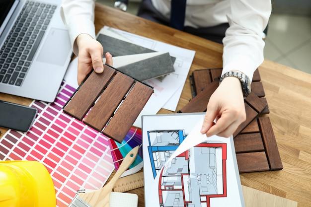 Plan de maison et travail de concepteur d'idées