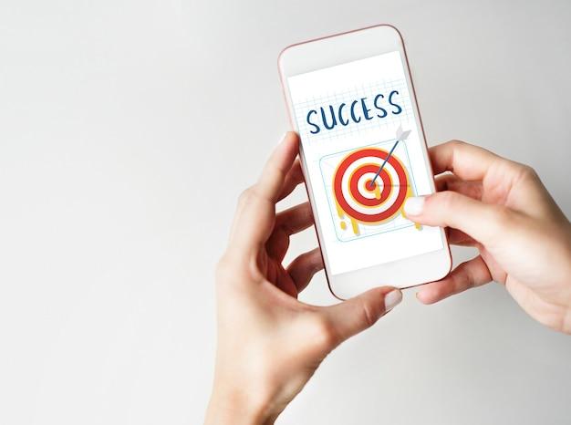 Plan stratégie objectif objectif succès concept