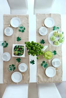 Plan d'une table élégante