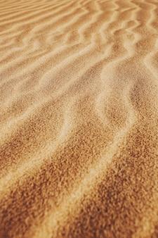 Plan vertical des motifs sur le sable dans le désert