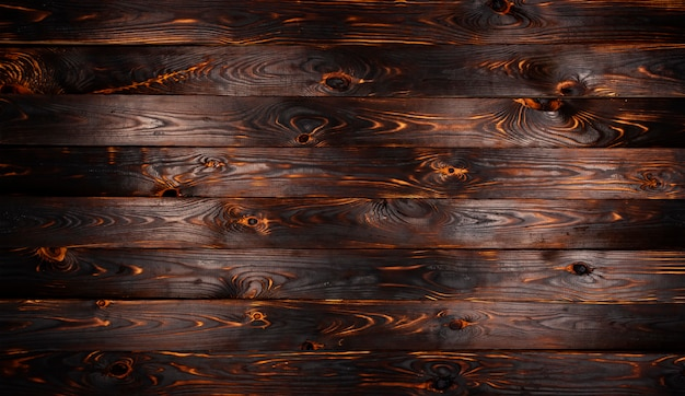 Planche de bois brulée, texture de bois de charbon de bois noir