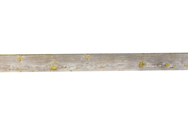 Planche de bois horizontale isolée sur fond blanc. photo de haute qualité