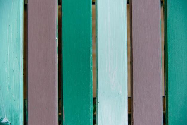 Planche de bois peint abstrait brun vert style ancien.