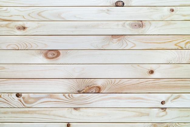 Planche de bois de surface fond marron clair avec planches horizontales. vue rapprochée à plat