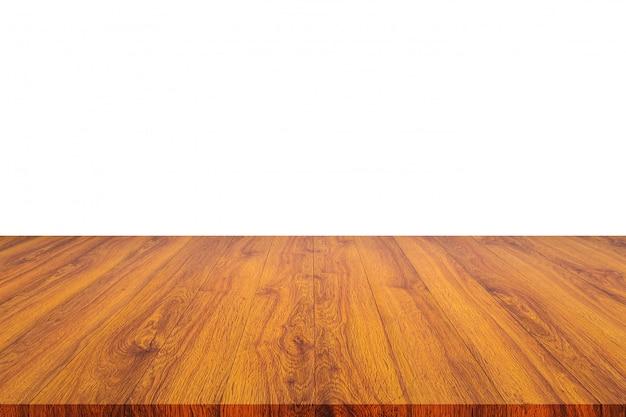 Planche de bois ou table et résumé flou