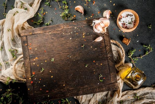 Planche à découper aux épices