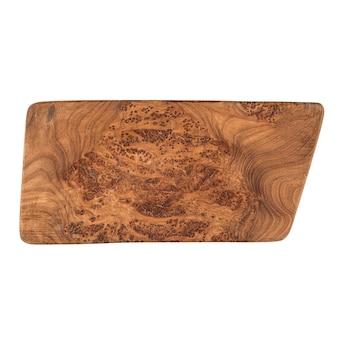 Planche à découper en bois de forme inhabituelle isolée