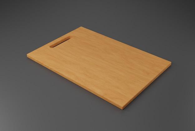 Planche à découper en bois. illustration 3d