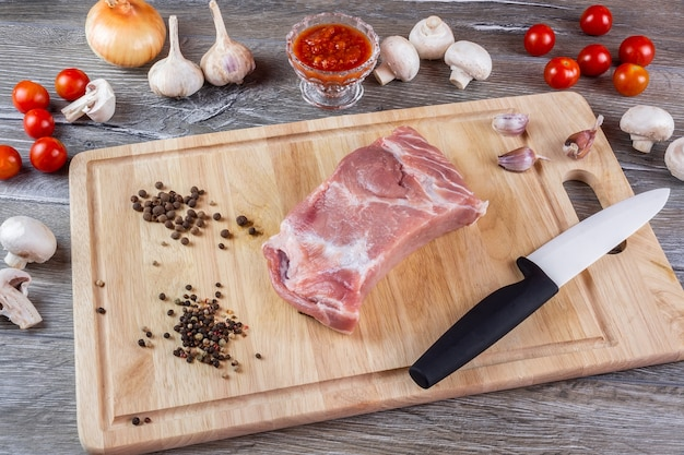 La planche à découper la viande