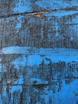 Planche sale en bois bleu