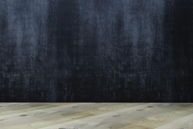 Planche ou table en bois sur fond de craie