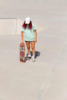 Planche de tenue de patineur complet