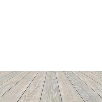 Plancher de bois sur un fond blanc