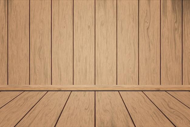 Plancher de bois sur fond en bois de planche