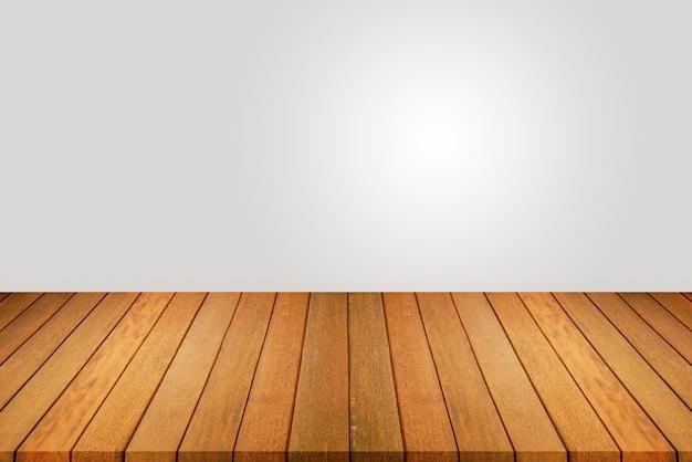Plancher en bois et mur blanc, pièce vide pour le fond. grande salle vide dans un style grange avec plancher en bois