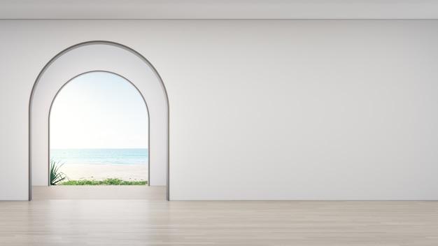 Plancher en bois d'une pièce vide dans une maison moderne.