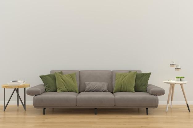 Plancher intérieur de la maison avec canapé