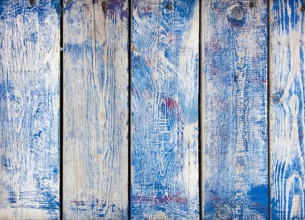 Planches bleu foncé vintage en bois
