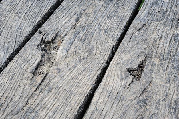 Planches de bois âgés en perspective