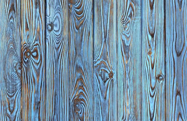 Planches de bois bleues, texture du bois de couleur bleue ancienne et grunge