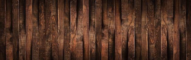 Planches en bois brun rustique